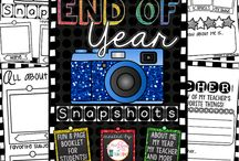 End of the year / Lessons, anchor charts, ideas, freebies, activities, and games for 2nd, 3rd, and 4th for the end of the school year.  Ways to keep students engaged and focused through the end of the year.