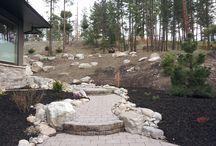 Paving stone installation in Kelowna landscapes / paving stone,flagstone,interlocking pavers,hydrapressed slabs in Kelowna landscaping