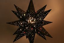 Mexican Tin Star Lights / These handmade Mexican tin star lights are great for use in restaurants or home decor. You will love these unique star lights.
