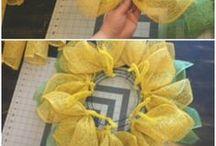 Sunflower wreaths
