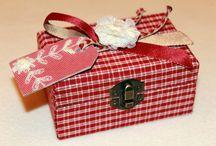 Cajitas forradas / Forrado de cajas con puntillas y adornos ideales para regalar