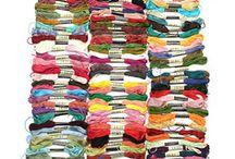 50 echevettes fil  pour broderie,point de croix,bonines,tricot,couture,mercerie