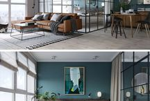 Black Framed Glass Wall