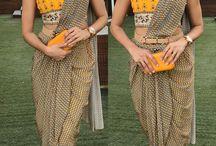 Yellow drape sari shilpa Reddy