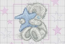 teddy bear - cross stitch