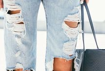 Denim Ripped Boyfriend Jeans