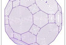 Adult mazes, Colouring, etc.