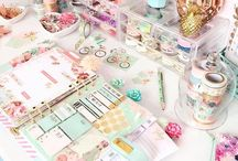 Planner Space / Cute ideas for organizing planner supplies in your desk, office, or space.