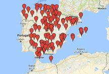 MAPAS DE DESTINOS DE TURISMO ARQUEOLÓGICO Y CULTURAL / Mapas Google de destinos publicados para que organices tu propia ruta.