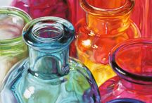 Still Life glass and colours