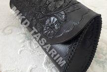 Elişi Deri Ürünlerim (My Handmade Leather Products) / Kadın Çanta