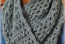 Crochet cowls and scarves