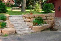 Boulder Walls / boulder walls, boulder retaining walls, and rock retaining walls in Minneapolis - St. Paul - Twin Cities in Minnesota.