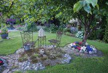 Puutarha / Kuvia Järvisten puutarhasta. Puutarhassa touhuaa innokas kotipuutarhuri, joka rakastaa pihassa työskentelyä ja oman pihan kunnostamista.