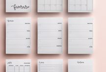 planner, printables e projects