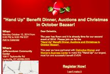 The Hand Up Benefit Dinner, Auctions and Christmas in October Bazaar / Partnered event with CSP, Distinctive Women and Kentucky Women Business Center.  Showcase opportunity is available