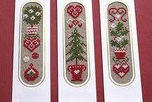 segnalibri punto croce natalizi