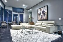 White Gray Decor / Upper Kirby High Rise Condo Project. Designed by Pearl Design.
