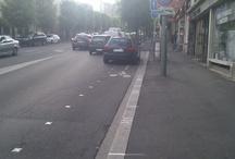 "On my bicycle / Au plaisir des ""aménagements""  cyclabes..."