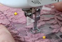 Sewing lace and sheer fabrics