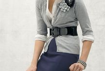 Navy skirt work outfit