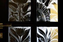 MY WORK.Sticla gravata/Engraved glass/Verre gravé/Vetro inciso/Graviertes glas