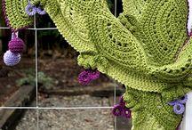 Crochet and knit shawl