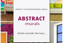 Abstract Murals / Think outside the box! Create a unique masterpiece in your home!