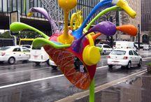 fun sculptures/ walls / by Kristine Eldridge