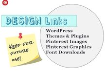 Design Links / Stuff I find and thinks it might come handy for future internet design tasks. WordPress tips, plugins, etc. Fonts & elements to make Pinterest graphics and more...