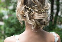 Rustic Wedding Hairstyle / Short, long, red, blonde, pink, blue or brown ... for every bride her hairstyle rustic and country!