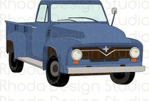 Custom Graphic, Vintage and Retro Art / Custom graphics, vintage campers, retro pickup trucks, digital designs for teachers, t-shirt makers, embroidery files, and screen printing. Bright and cheery artwork that can be used for commercial or personal use.