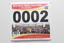 RFID Marathon Bibs and Foam tags / RFID Marathon bibs and foam tags for marathon tracking and automation