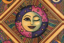 •moon, sun and stars•