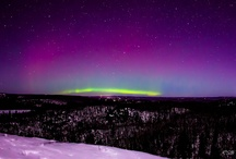 The Sky / Both earthbound weather and auroras (or aurorae)