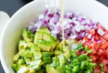 Dishes with avocado