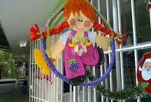 decoração  com bambole