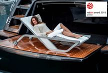 """XTREME Collection / This luxurious collection is a symbiosis of fine materials, high-quality production technology and ambitious design. XTREME real leather and a perfectly shaped aluminium structure, are combined in timeless elegance. The Sunlounger of this collection was awarded with the """"Red Dot Award 2015"""" for high design quality. The Armchair was awarded in USA with the """"Best of the BD West"""" Award."""