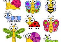 V trávě, na louce / Hmyz, mravenci, berušky, motýlci...