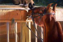 Equine art: Jeanne Newton Schoborg
