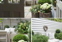 small garden, balcony