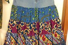 falda con jeans