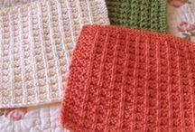 Knit dishcloth