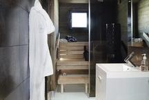 bastu och duschrum
