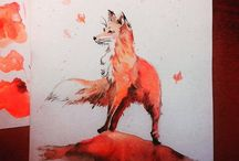 WaterColorArt / Art, watercolor art, animal