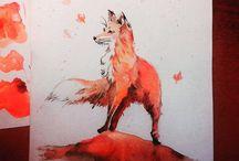 WaterColorArt / Art, watercolor art, animal