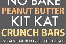 Healthy no bake peanut butter kit kat crunch bars