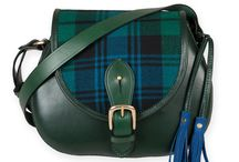 Bespoke Strathearn saddlebag / We can create a custom Strathearn saddlebag for a small supplement on the standard price. You choose the leather, tartan and lining (subject to availability) and we create a one-off bag just for you!