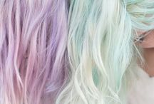 Colorfull pastel hair