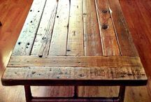 Tables / Different designs for wooden tables and how to make them, furniture.
